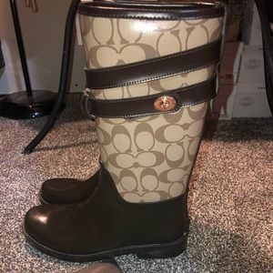 Authentic Coach Rain Boots